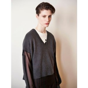 McQ by Alexander McQueenV Neck Cropped Sweater