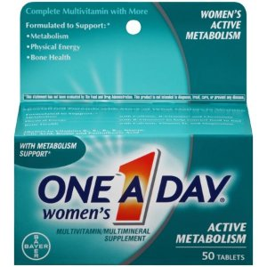 One A Day Women's Active Metabolism Multivitamins, Supplement with Vitamins A, C, E, B2, B6, B12, Iron, Calcium and Vitamin D, 50 ct. - Walmart.com
