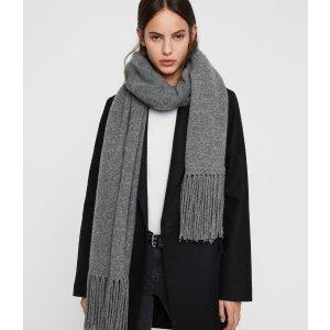 AllSaints羊毛围巾