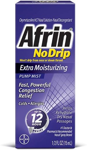 Afrin No Drip Extra Moisturizing Pump Mist 15 ml