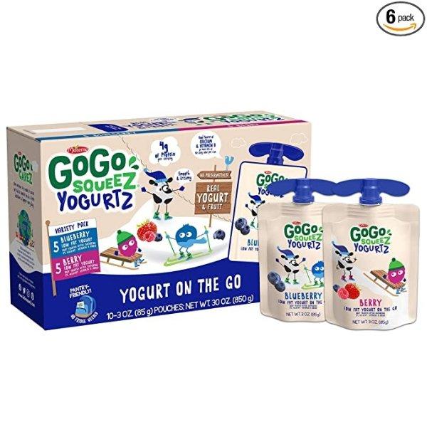 蓝莓+莓子口味低脂酸奶 60袋装