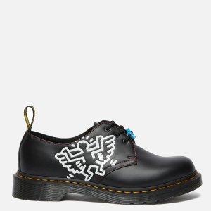 Dr. MartensX Keith Haring 1461 黑色皮鞋