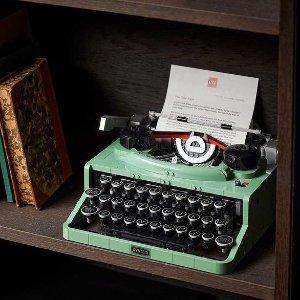 打字机补货 满额送好礼LEGO官网 九月热卖 圣诞老人的造访 可提前购,玫瑰补货