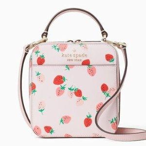 低至5折 草莓盒子包$224Kate Spade官网 甜蜜初恋草莓系列全新热促