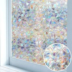 Niviy 彩虹隐私窗贴纸 11.8x78.7英寸
