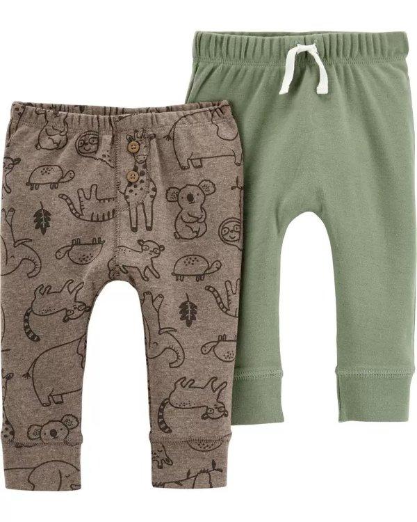 婴儿提拉长裤2条装