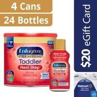 Enfagrow 幼儿奶粉24盎司*4罐+8盎司液体奶24瓶