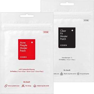 42贴仅$9.98 销量冠军COSRX 隐形祛痘消炎+超薄隐形痘痘贴超值套装