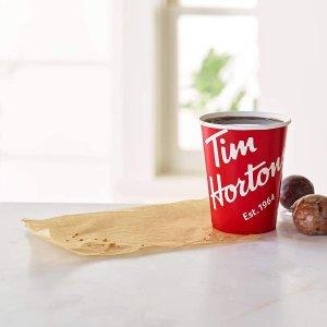 $4.98(原价$5.99)Tim Hortons 速溶咖啡100g 100%阿拉比卡咖啡豆