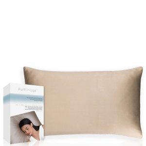 $64(原价$92)越睡越美丽Iluminage 铜离子抗皱护肤护发枕套 香槟金色
