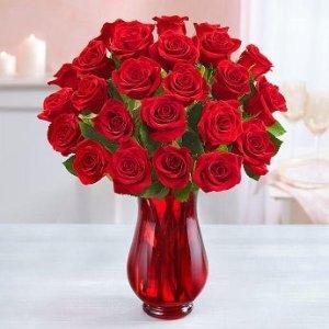低至7折 $49.99收红玫瑰24支BD狂欢节:1800flowers.ca 精选鲜花花束促销