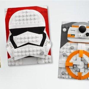 仅$19.99新品上市:LEGO官网 BRICK SKETCHES 大头画框系列