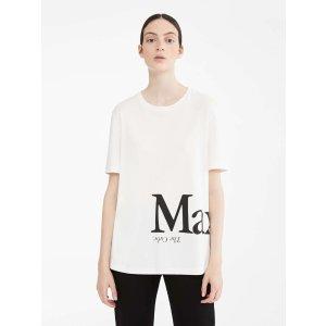 Max MaraCotton jersey T-shirt, ivory -