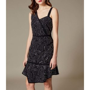 Jacquard Stud Asymmetric Dress
