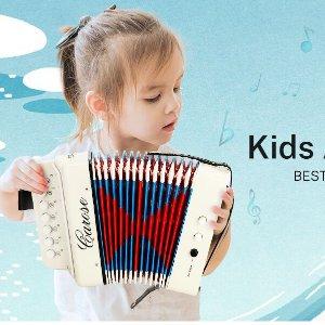 $19.79(原价$32.99)史低价:CAROSE 七键儿童手风琴 培养乐感从娃抓起 2色可选