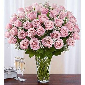 24/36/48朵可选,带花瓶24朵粉红玫瑰
