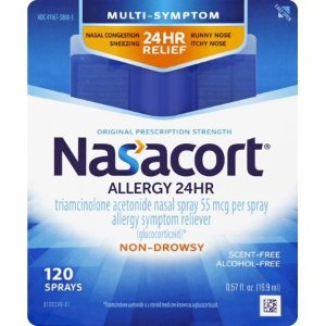 Nasacort 24小时 过敏鼻喷剂, 120喷