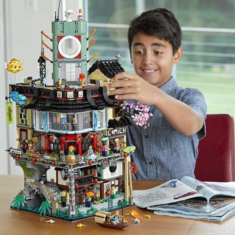 直降$70 $279.99 (官网原价在售)史低价:LEGO 乐高 70620 Ninjago系列 幻影忍者之城