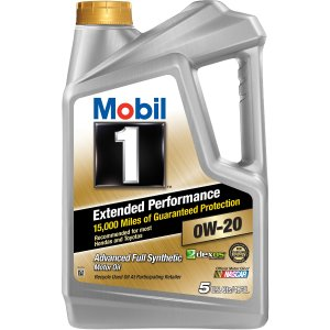 Mobil 10W-20 长效保护 全合成机油 5夸脱