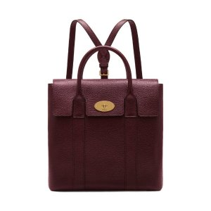 Bayswater Backpack | Oxblood Small Classic Grain | Women | Mulberry