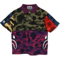 MIX CAMO RELAXED SIDE SHARK POLO LADIES