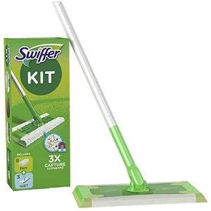 5.1折 现价仅€€14.8史低价:Swiffer 地板拖把套装 1个拖把+8片干拖布+3片湿拖布