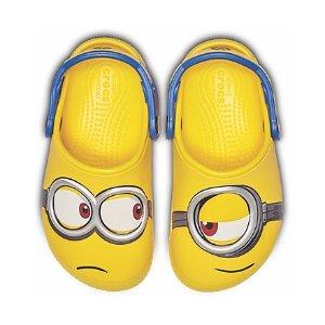 Crocs两双$45儿童小黄人鞋,不对称设计