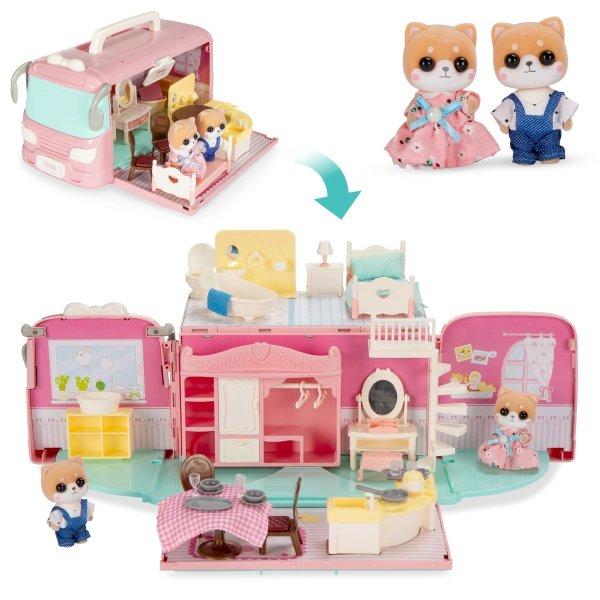 50+件套 休旅车变身娃娃屋玩具套装