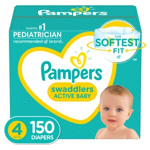 $97.94 with $30 eGiftcardSize 4 & Size 5 Pampers Swaddlers Diapers- 282 Total Diapers