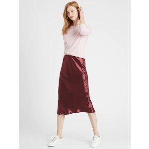 Banana RepublicBias-Cut Midi Slip Skirt