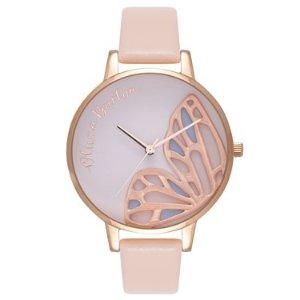 Olivia Burton蝴蝶腕表