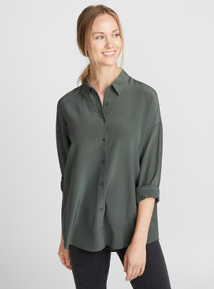 Loose pure silk shirt   Contemporaine