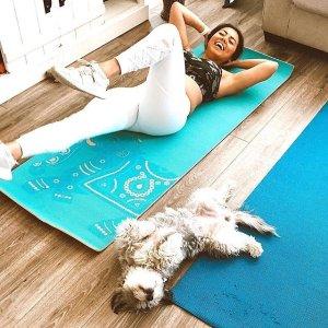 $18收双色防滑瑜伽垫Gaiam 瑜伽垫热卖 网红都在做瑜伽 在家偷偷瘦身变美