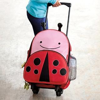$29.97(原价$49)Skip Hop Zoo 瓢虫造型多功能拉杆箱 学生减负书包