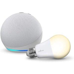 冰川蓝Echo Dot 4+智能灯泡