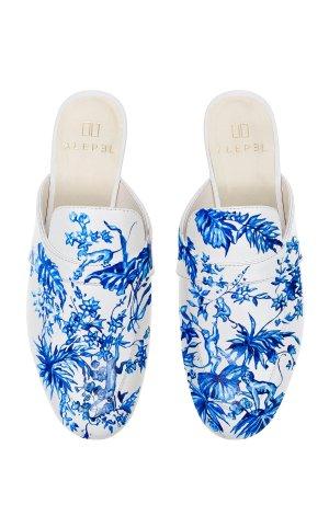 Blue Jungle Mule 手绘穆勒鞋