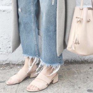 $30.92起(原价$99.5)史低价:Franco Sarto 女士时尚粗跟麂皮宽带凉鞋好价特卖