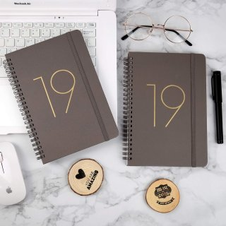 $4.992019 Planner - Academic Weekly, Monthly with Twin-Wire Binding. Thick Paper to Achieve Your Goals, Banded, DIY 12 Month Tabs, 5.75