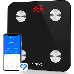 RENPHO Smart Bathroom Scale, Bluetooth Body Fat Monitor Weight Scale