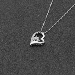 镀金施华洛世奇水晶心形项链