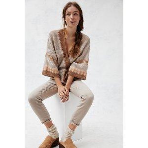 Anthropologie印花针织外套