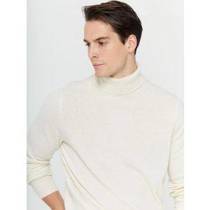 高领羊绒毛衣 多色选