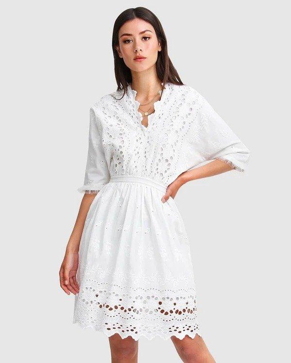 Whisper白色迷你裙