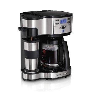 $36.99 (原价$89.50)限今天:Hamilton Beach 49980A 智能双模式咖啡机促销