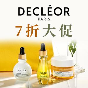 全场7折,£36速收橙花精油Decléor官网11.11大促,法国顶级美肤多种纯植物精油让皮肤靓白光滑