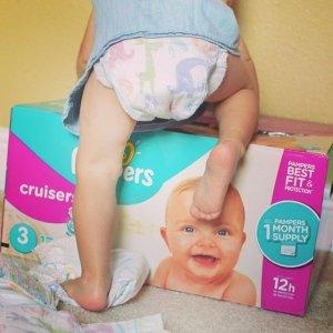包邮 经济装尿片Pampers 帮宝适婴幼儿纸尿裤 多款速干尿不湿