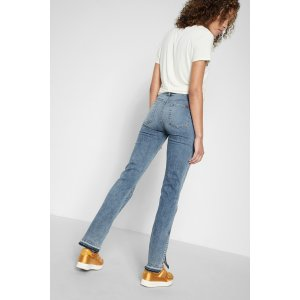 Dylan With Split Released Hem in Light Lafayette - 7FORALLMANKIND