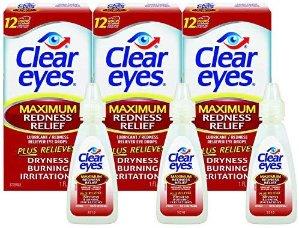 $7.84 包邮Clear Eyes 加强型去发炎红眼眼药水15ml x 3瓶