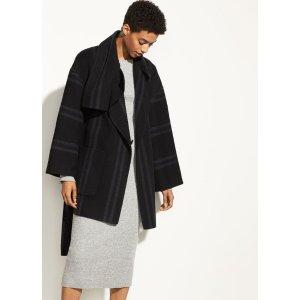 VinceStriped Blanket Coat