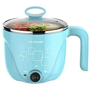 Amazon.com: 1L Liven Electric Hot Pot with 304 Stainless Steel healthy inner Pot, Cook noodles and boil water eggs easy, Small Electric Cooker 600W 120V HG-X1000BL: Kitchen & Dining